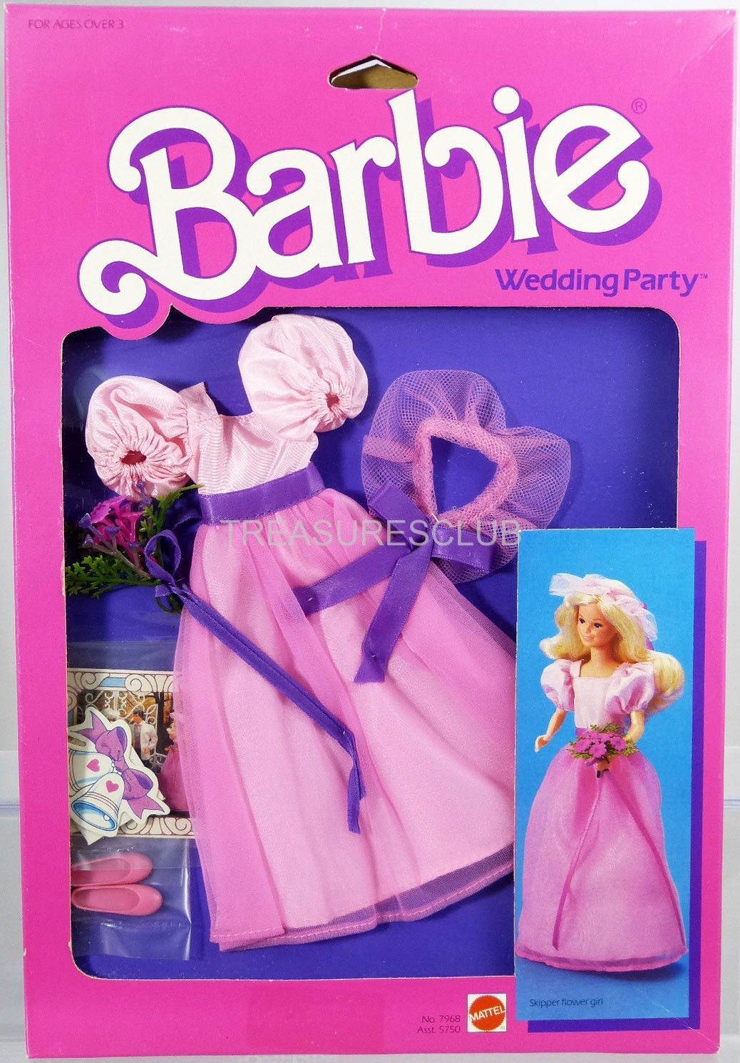 Barbie Wedding Party Skipper Flower Girl Fashions #7968 New 1984 ...