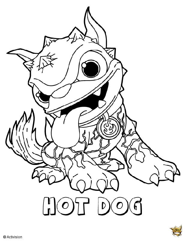 Hot Dog Pose Dog Coloring Page Cute Coloring Pages Coloring Pages To Print