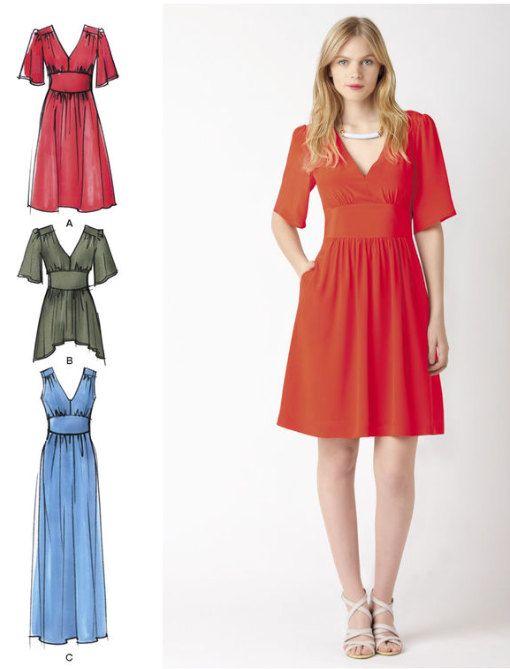 TUNIC TOP & DRESS Sewing Pattern ~ Cynthia Rowley Empire Waist ...