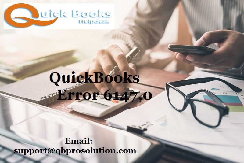When you face QuickBooks Error 6147,0 just get connected with our