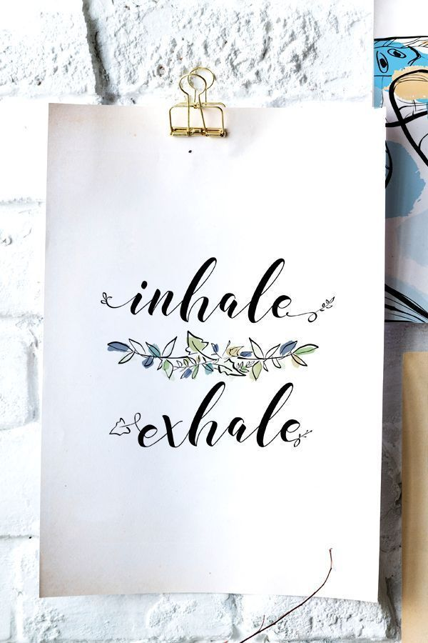 Inspirational Downloadable Wall Art Inhale Exhale Scandinavian Bedroom Poster #inhaleexhale Inspirational Downloadable Wall Art Inhale Exhale Scandinavian Bedroom Poster #inhaleexhale