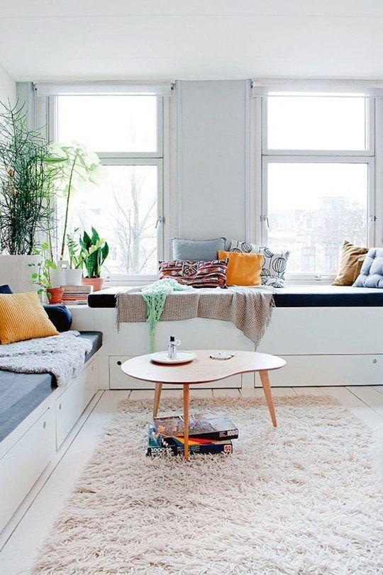 Gebruik zachte poeder-achtige kleuren in kleine ruimtes