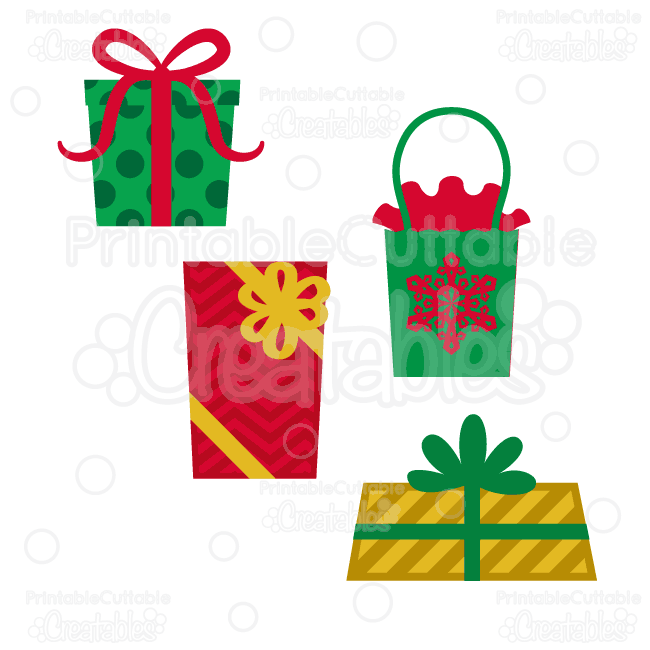 """YOU WILL RECEIVE: """"Christmas Presents"""" Free SVG Cutting ..."""