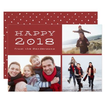 Happy New Year  Family Photo Template
