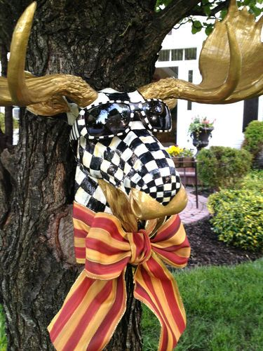Details About Hand Painted Rustic Wood Ornament Or Finial