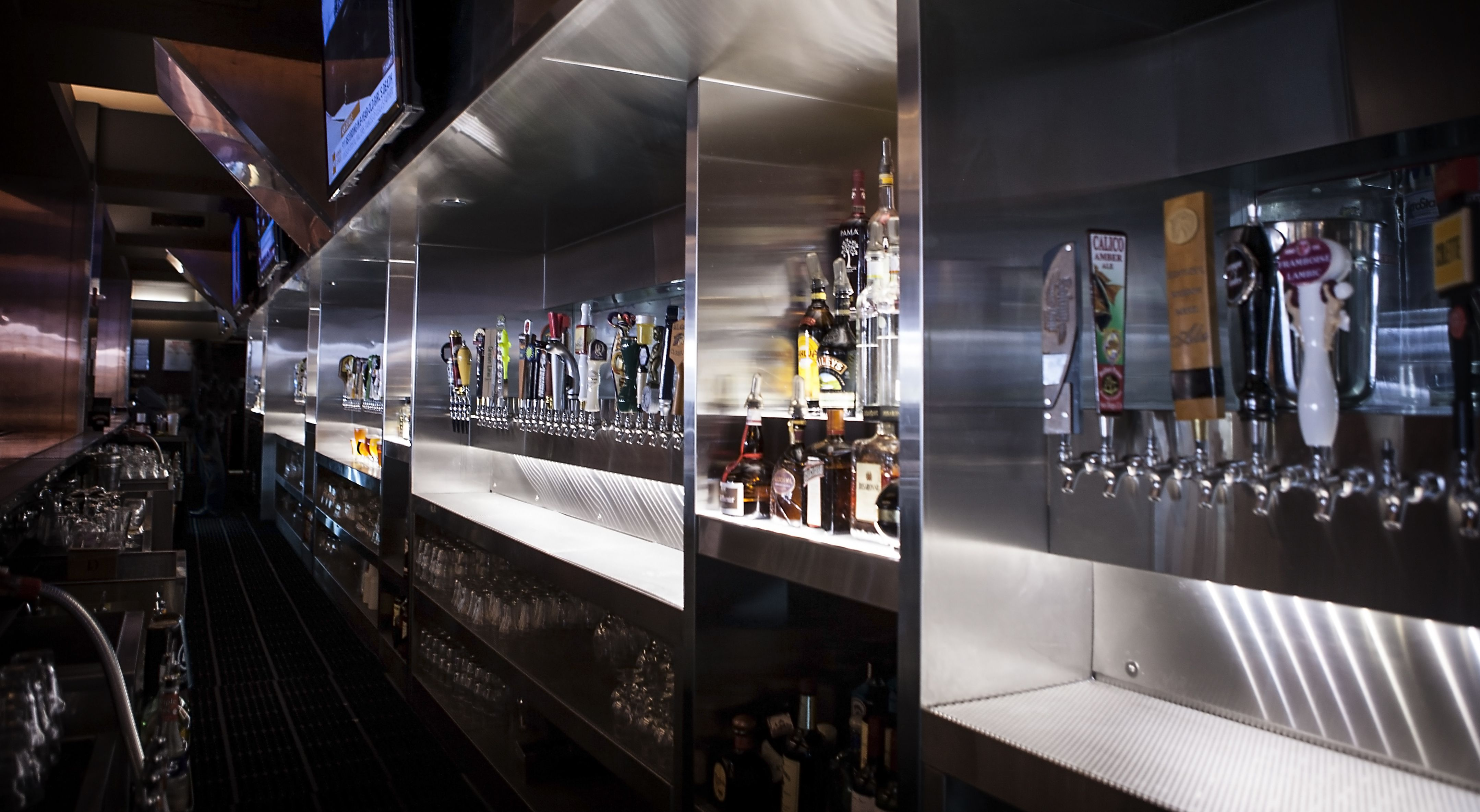 Custom draft beer tower by Micro Matic with stainless steel faucets ...