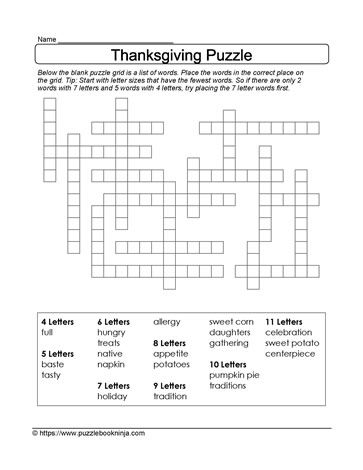 freeform thanksgiving puzzle. download, print, solve. great family