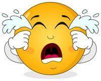 Trauriger Emoticon Smiley Der Karikatur Vektor Abbildung – Illustration von smiley, scream: 46947831 – Reinigen