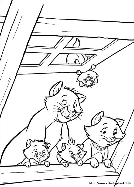 Aristocats Coloring Page … | Coloriages | Pinterest | Coloriage ...