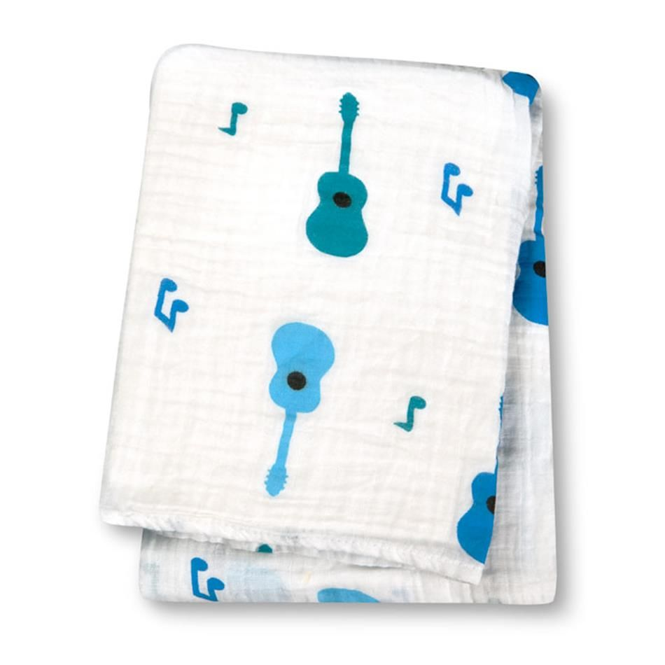 Lulujo Cotton Muslin Swaddles Guitars