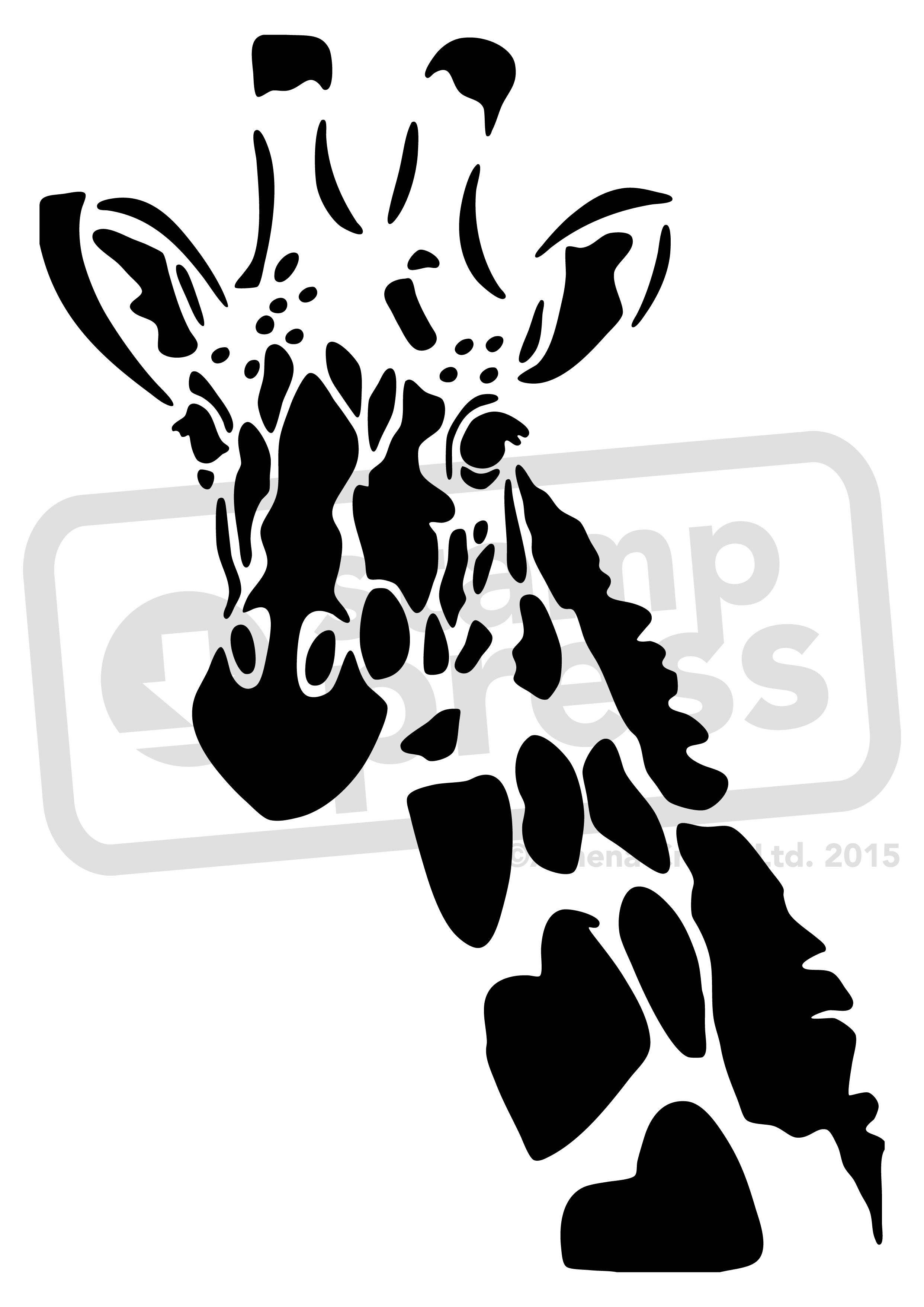 grandi affari sulla moda guarda bene le scarpe in vendita costo moderato Giraffe Stencil A5 'giraffe' wall stencil / template ...