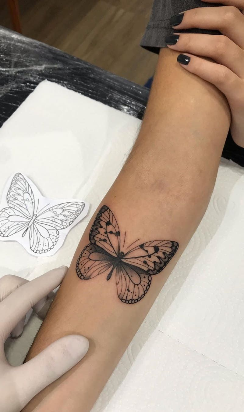 Photo of Butterfly Tattoo Arm , Butterfly Tattoo