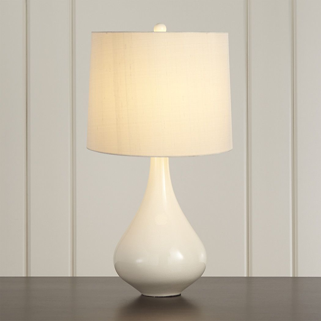 Kathryn Ivory Table Lamp + Reviews | Crate and Barrel in
