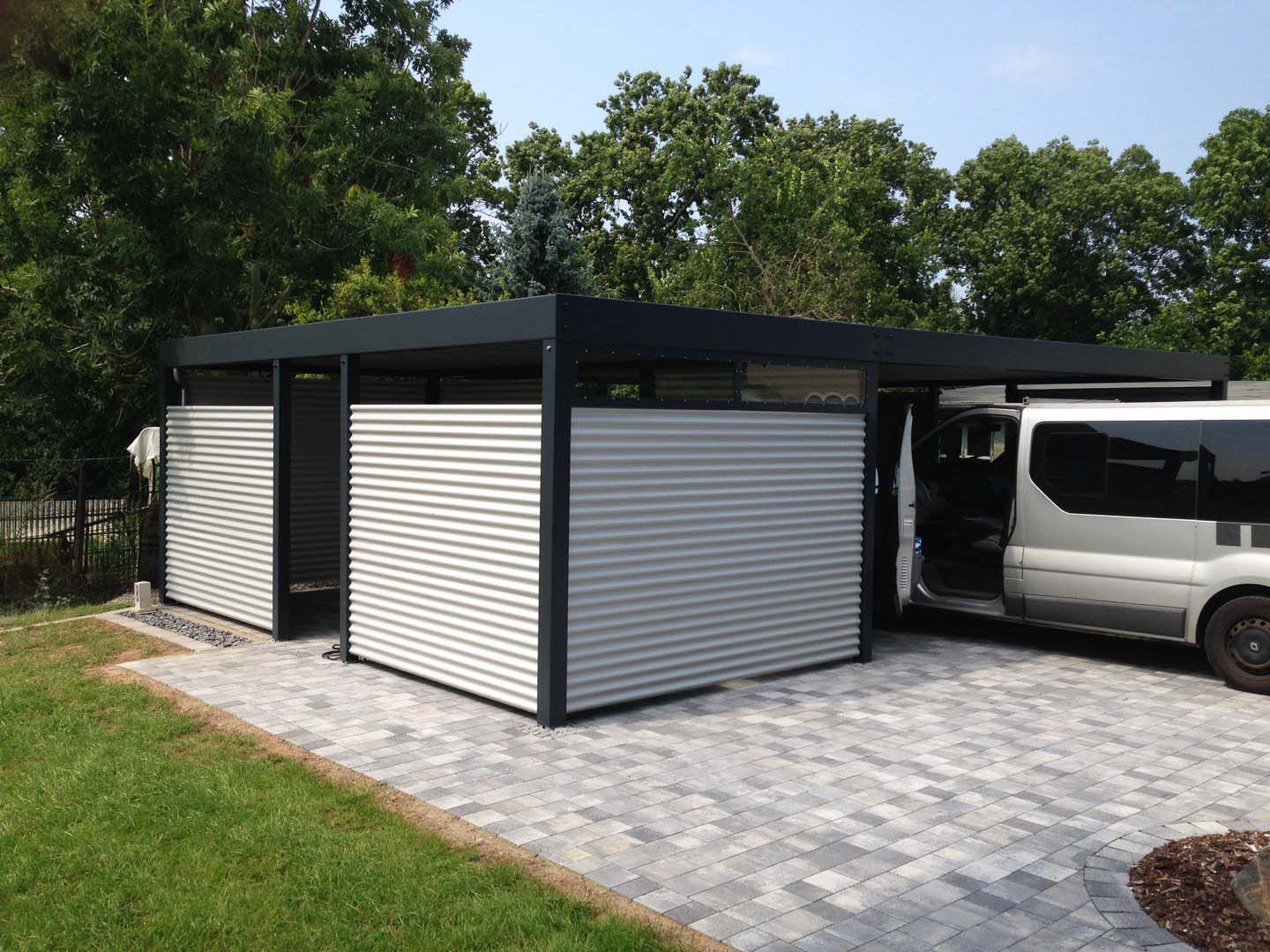 design metall carport aus stahl blech individuell salzburg ste metallcarport doppelcarport. Black Bedroom Furniture Sets. Home Design Ideas