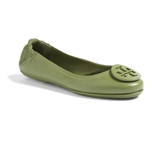 Women's Tory Burch 'Minnie' Travel Ballet Flat (26095 RSD) ❤ liked on
