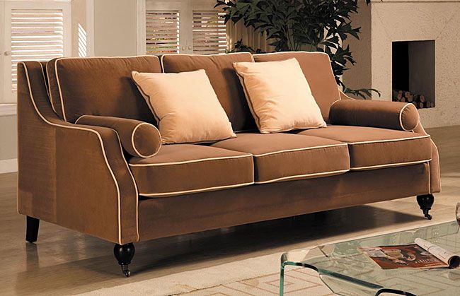 Awe Inspiring Carolyn Sofa With Contrast Piping Furnishings Furniture Gmtry Best Dining Table And Chair Ideas Images Gmtryco