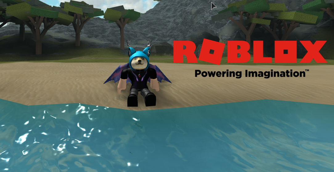 This is a custom roblox wallpaper i made with roblox