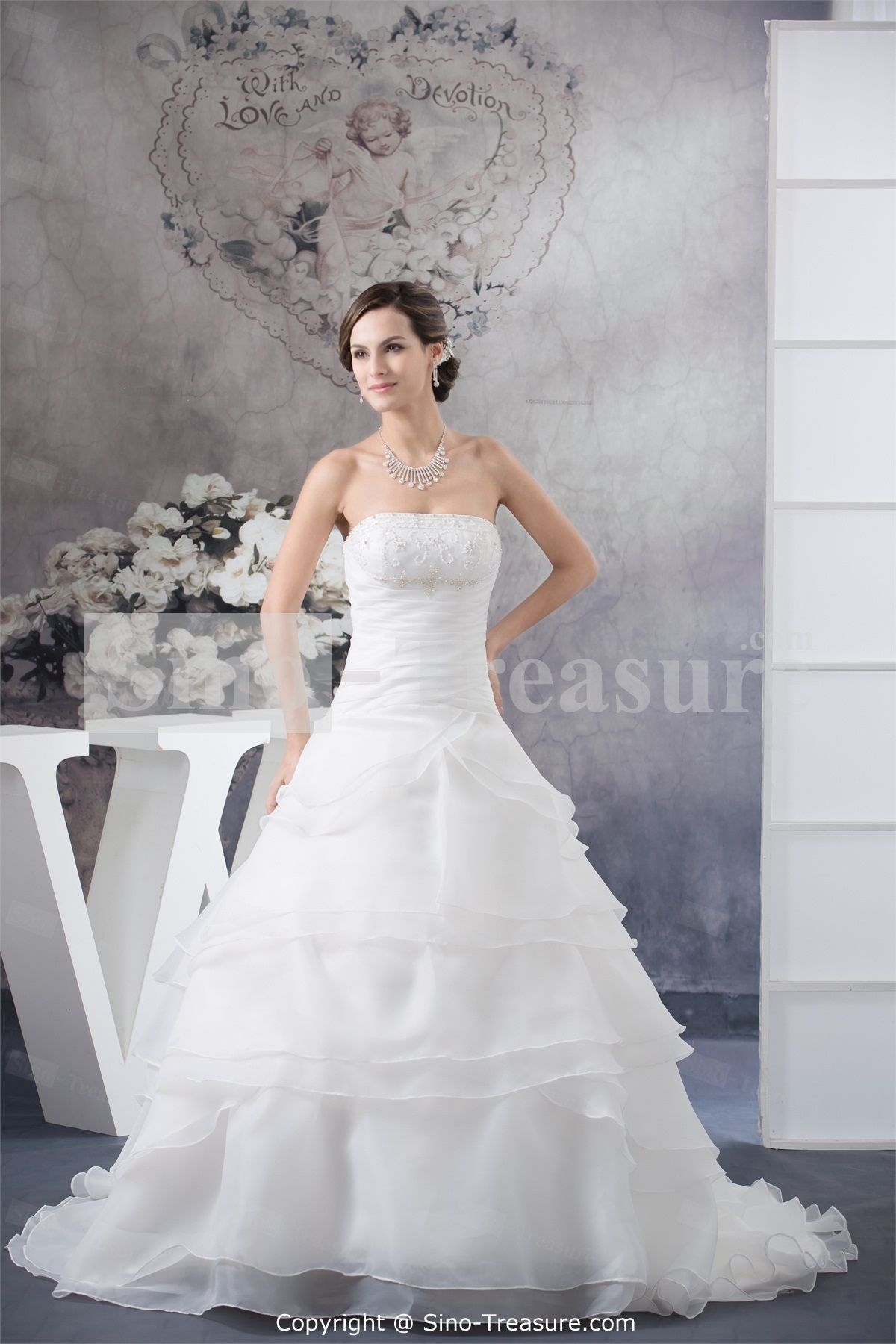 White church square court train satin zipperback aline wedding