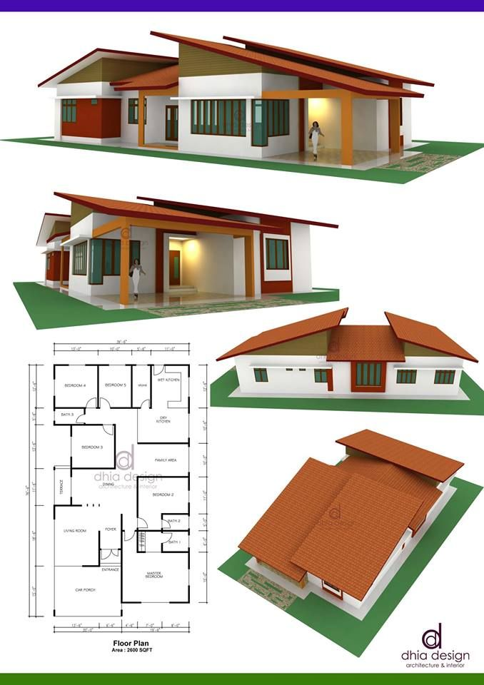 Image Result For Rumah Banglo Setingkat Simple Tata Letak Rumah Home Fashion Denah Rumah Tiga Kamar Tidur