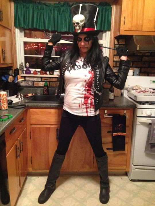 here i am as alice cooper halloween 2013