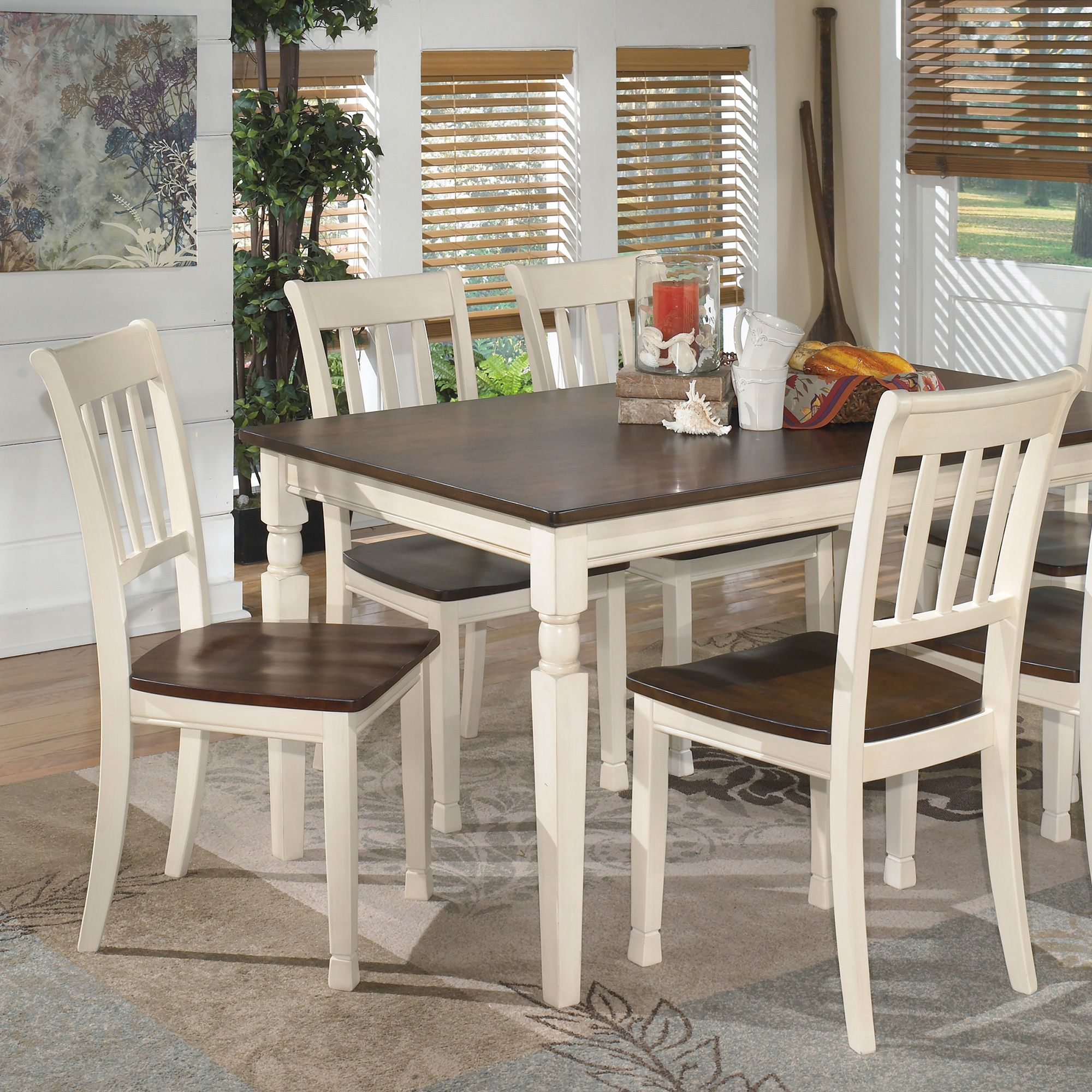 Signature Design By Ashley Whitesburg Two Tone Dining Room Dining Chair Set Of 2 With Images Kitchen Table Settings Large Dining Room Rectangular Dining Room Table