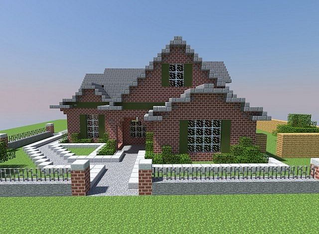 Small Modern Brick House Minecraft Map Modern Brick House