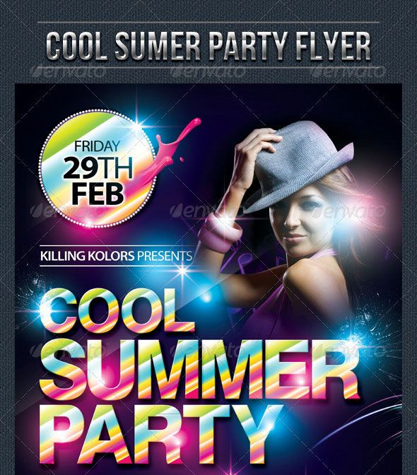 Charming party flyer templates contemporary example business 30 vibrant colorful party flyer templates party flyer saigontimesfo