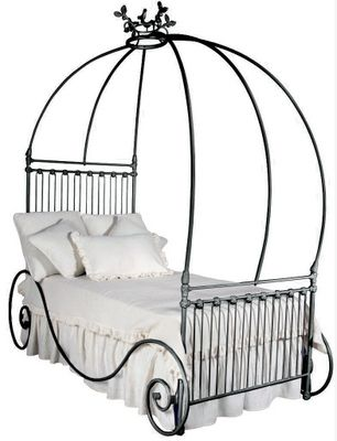 Wrought Iron Canopy Bed Would Look Nice With Lights
