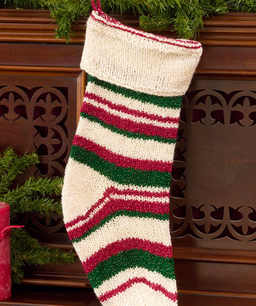 knitted christmas stocking pattern | Free Knitted Christmas Stocking ...