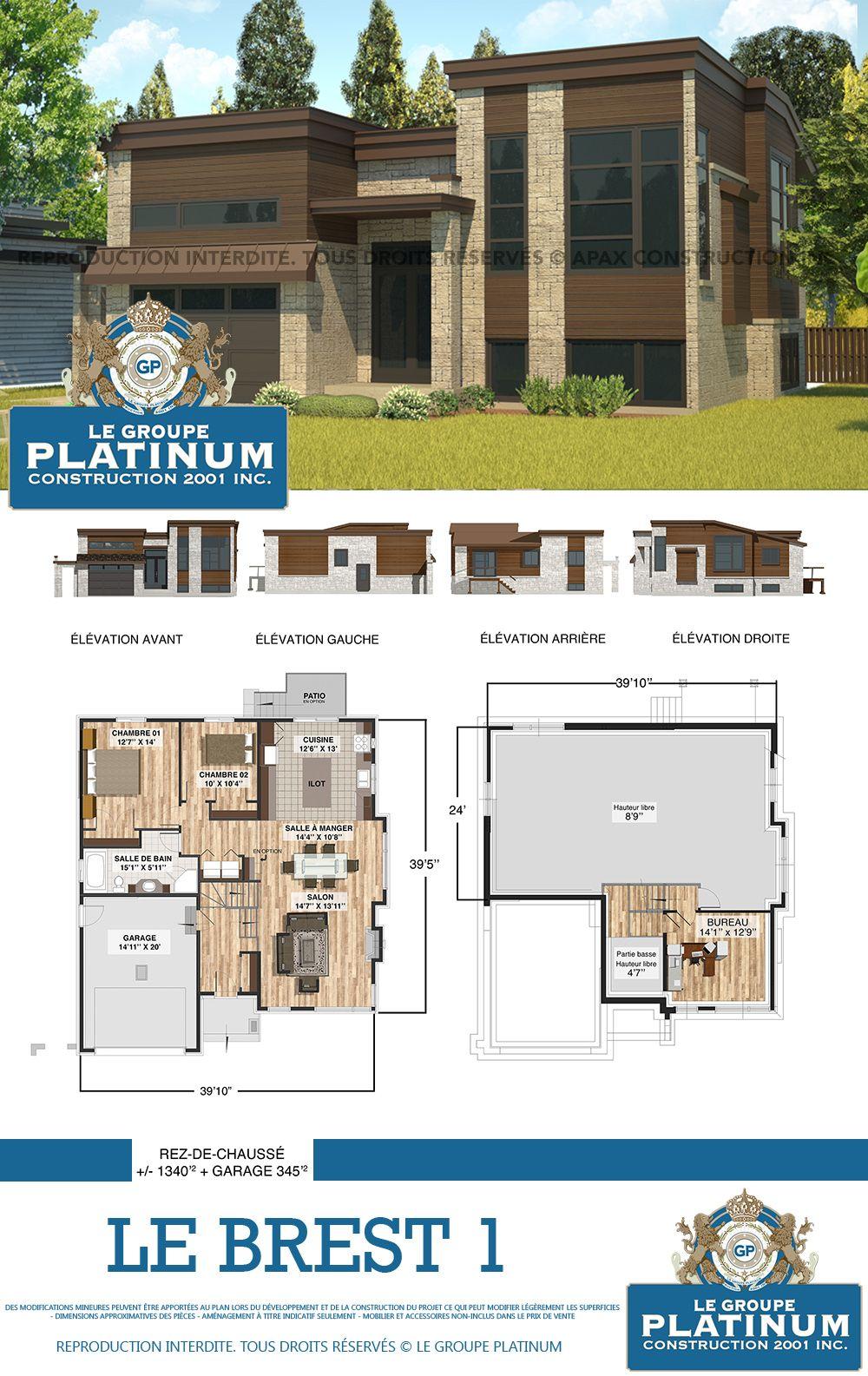 modle de maison neuve le brest le groupe platinum construction de maisons et - Modification De Plan De Maison