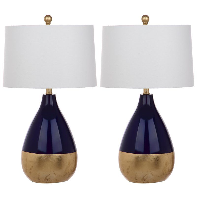 Ruben 61cm Table Lamp Set Gold Table Lamp Tall Table Lamps Table Lamp Sets