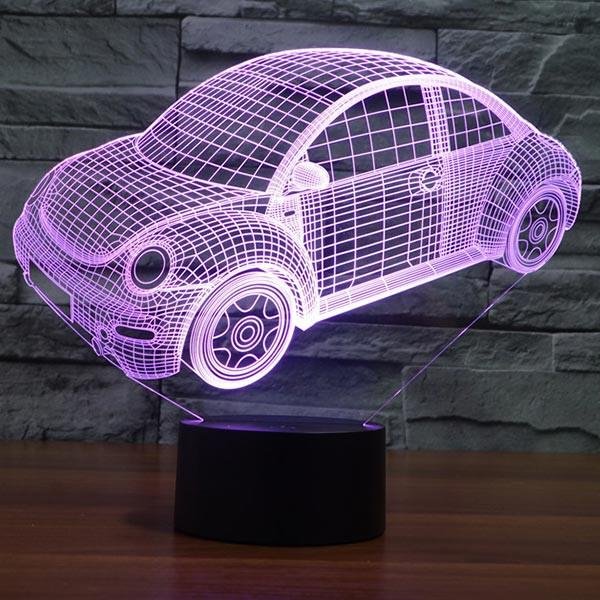 Just A Energy Efficient 2d Led Lamp But Looks Like A 3d Bulb Tricking Your Eyes And Making Your Place Look Plain Cool A C Voiture Vintage Deco Voiture Voiture