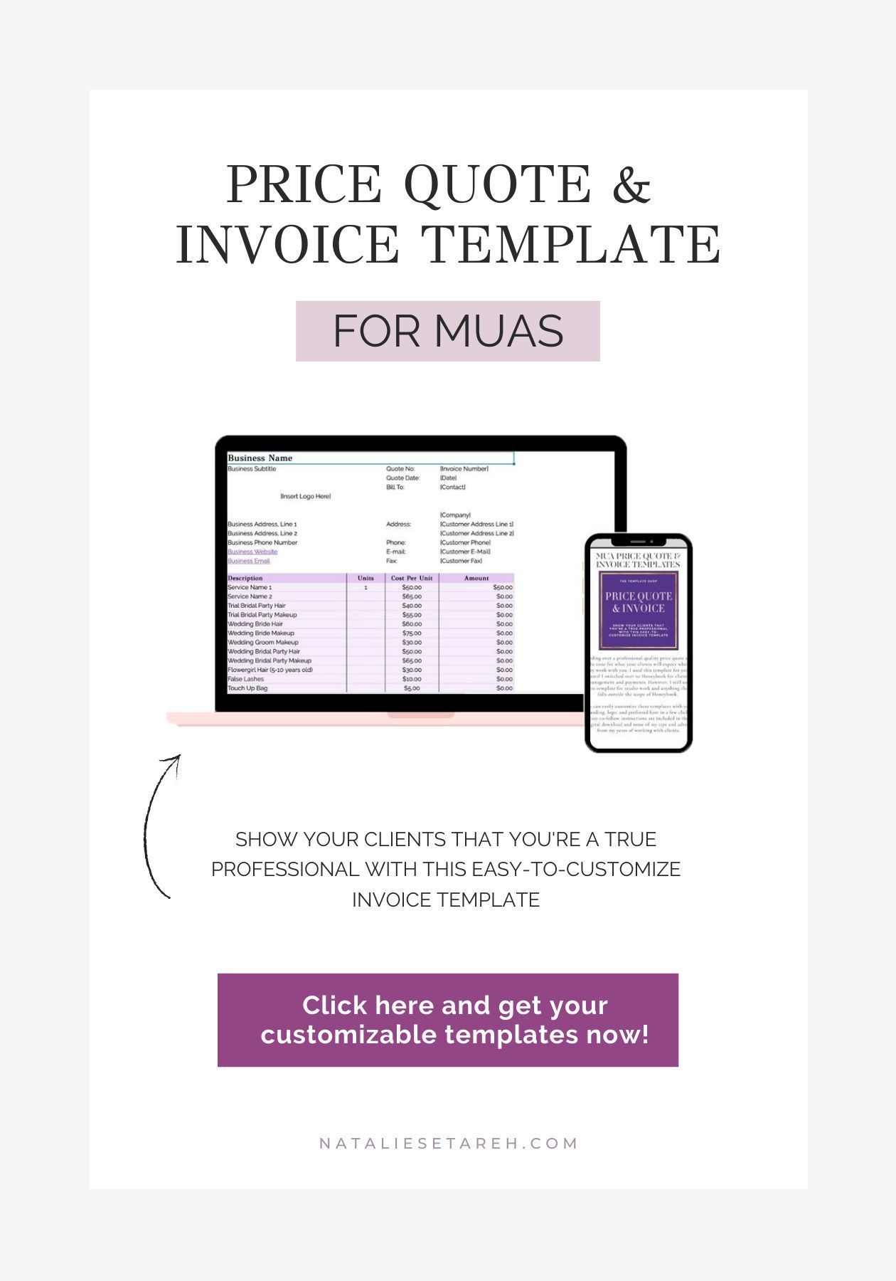 Price Quote Invoice Templates Freelance Makeup Artist Tools For Download Makeup Artist Business Freelance Makeup Artist Business Quote Template