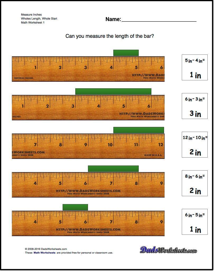 Read The Ruler Worksheets Math Worksheets Pinterest