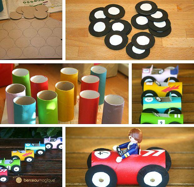 fabriquer une petite voiture rouleaux de papier toilette papier toilette et rouleaux. Black Bedroom Furniture Sets. Home Design Ideas