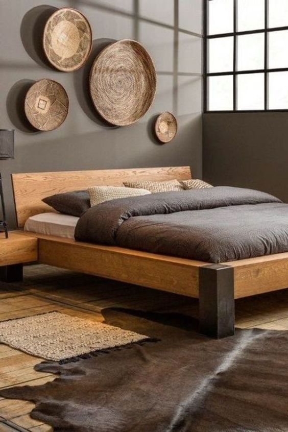 Bed Frame Platform Bed Wood Woodworking Furniture Floor Bed