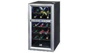 Kalorik Stainless Steel 18-Bottle Dual-Zone Wine Cooler