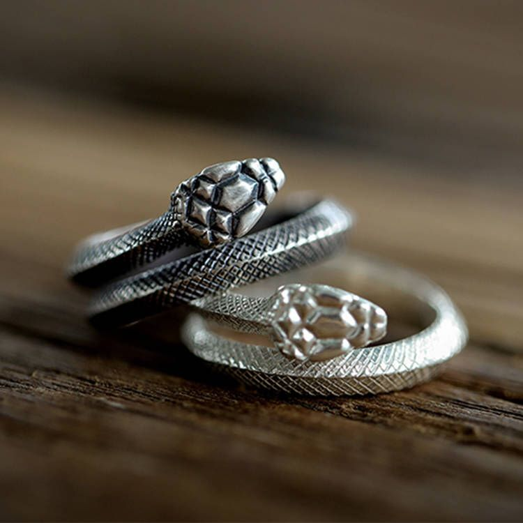 Viper Snake Sterling Silver Ring