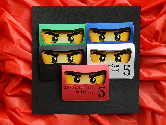 ninjago birthday party invites ninjago