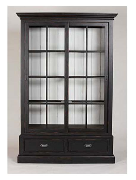 Ridgedale China Cabinet Sliding Doors Glass Shelves Interior