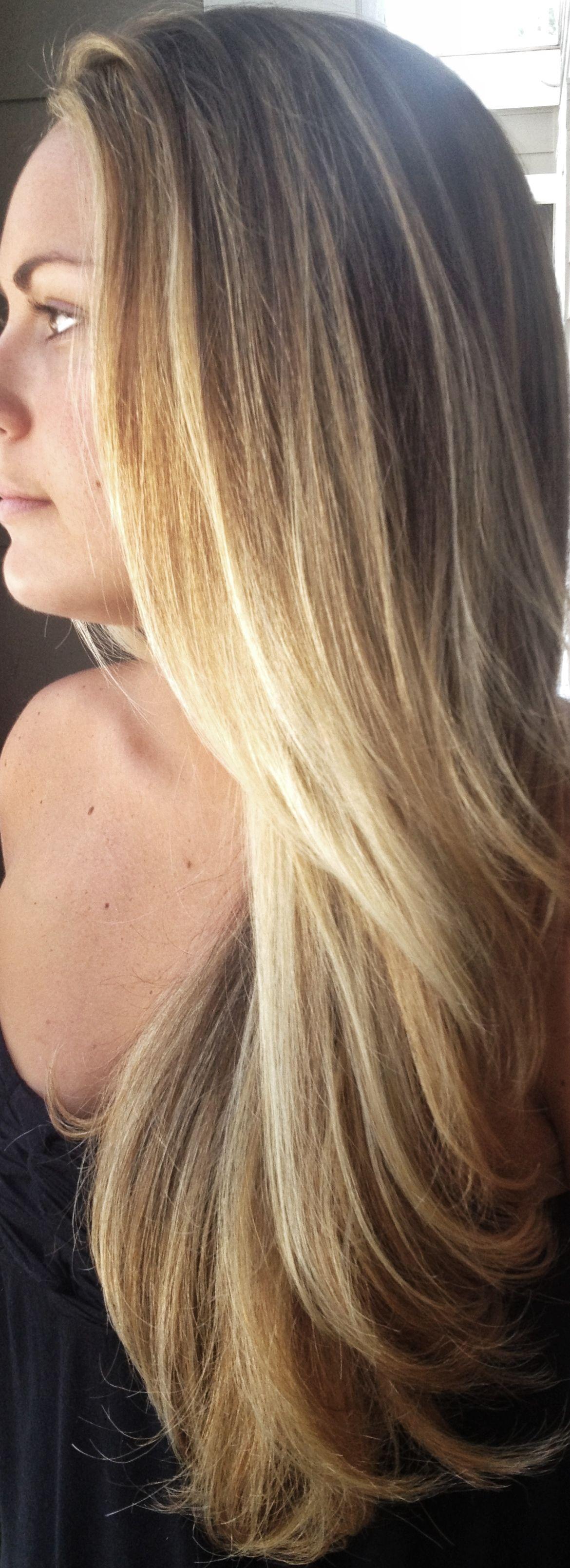 Blonde hair dimensional brown blonde balayage for Balayage braun blond