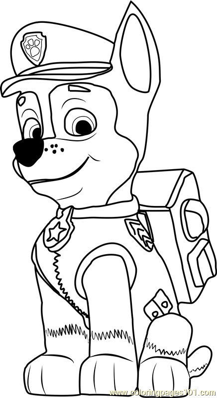 Chase Coloring Page Paw Patrol Coloring Paw Patrol Coloring Pages Chase Paw Patrol
