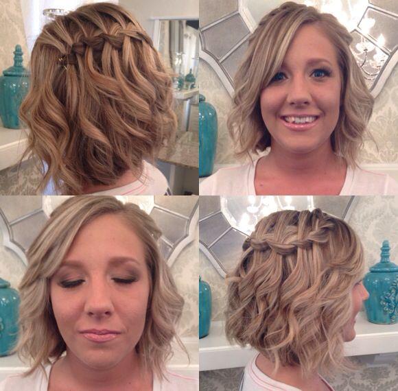 Waterfall braid with loose curls!   Prom hair, Loose curls ...