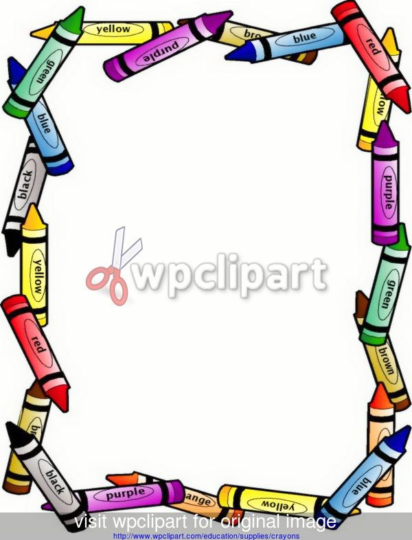 free clip art for teachers crayon border large - public domain