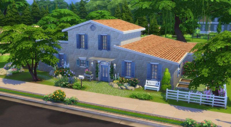 Mas Provencal Sims 4 Facade Avant Sims Mas Provencal Maison