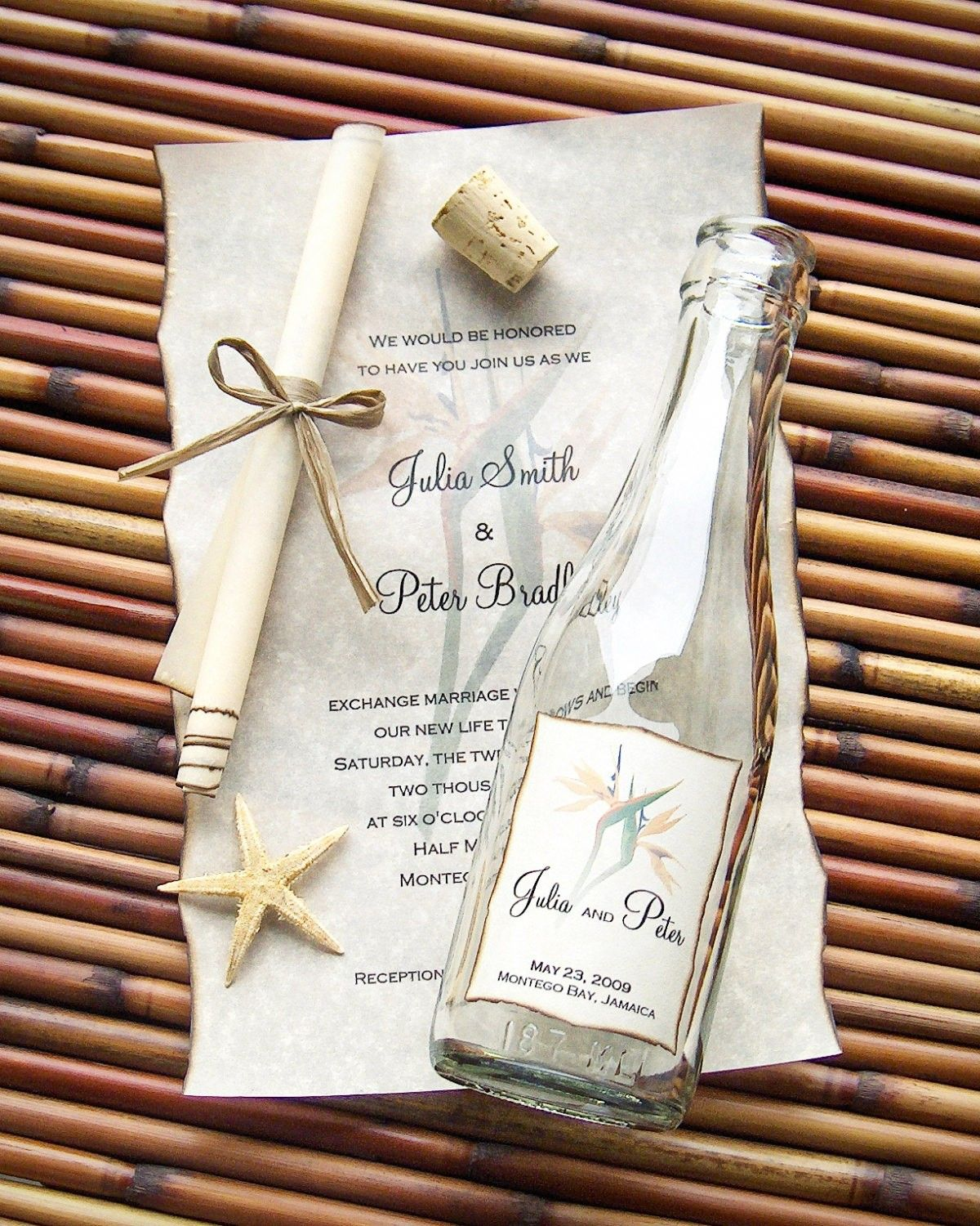 Message In A Bottle Wedding Invitations! What a cute idea for a ...