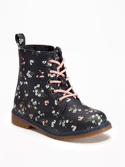 c9f0b87bff44 Old Navy Lace Up Boots for Toddler Fall Fashion for Girls