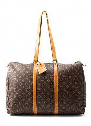 Pre Owned Luxury Bags Louis Vuitton Flanerie Travel Bag Brown Replicahandbags