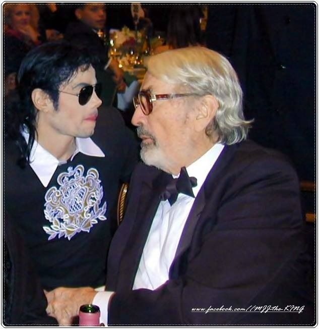 Michael Jackson and Gregory Peck