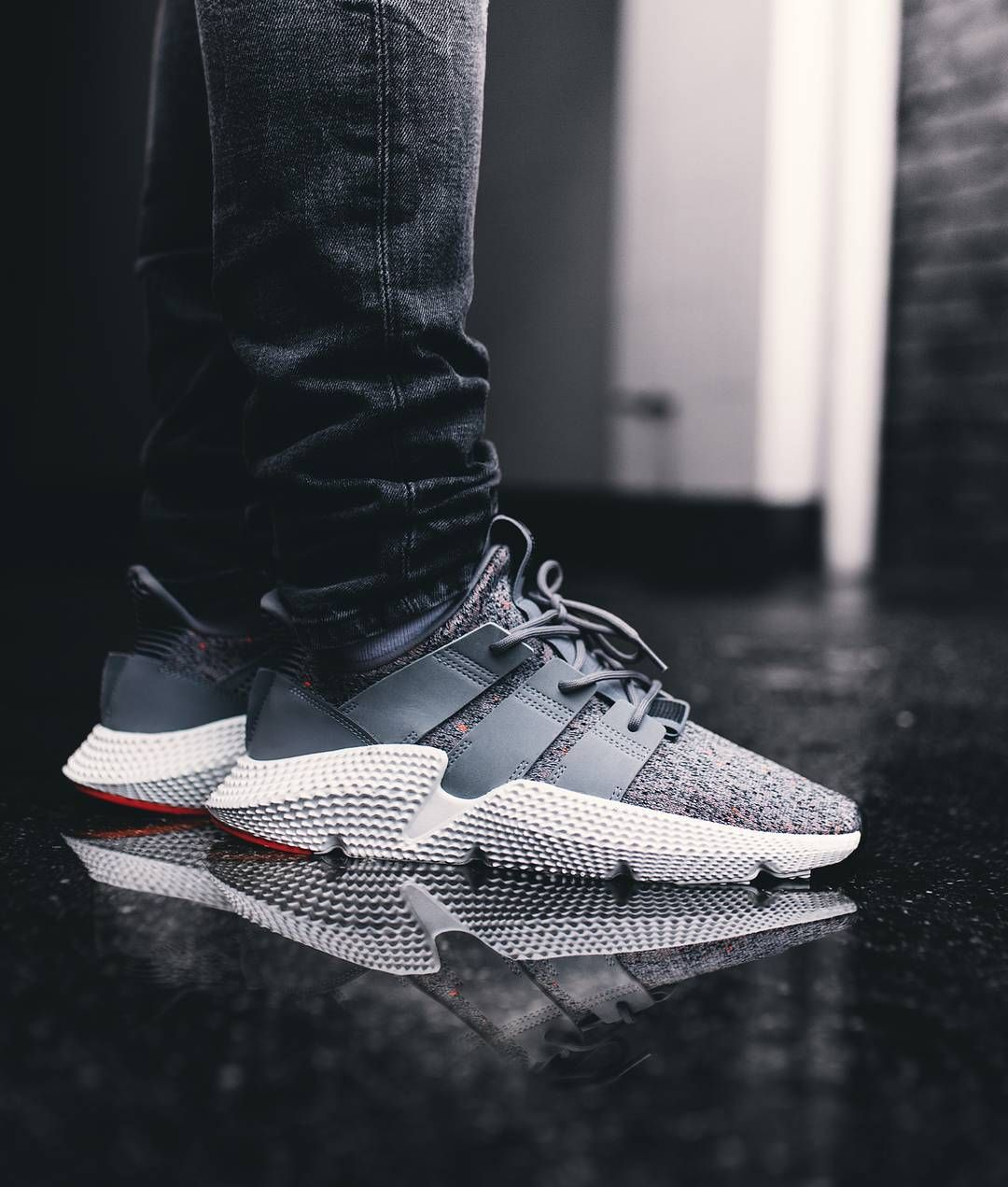 3f6830dbbec Adidas Prophere Grey   White   Solar Red